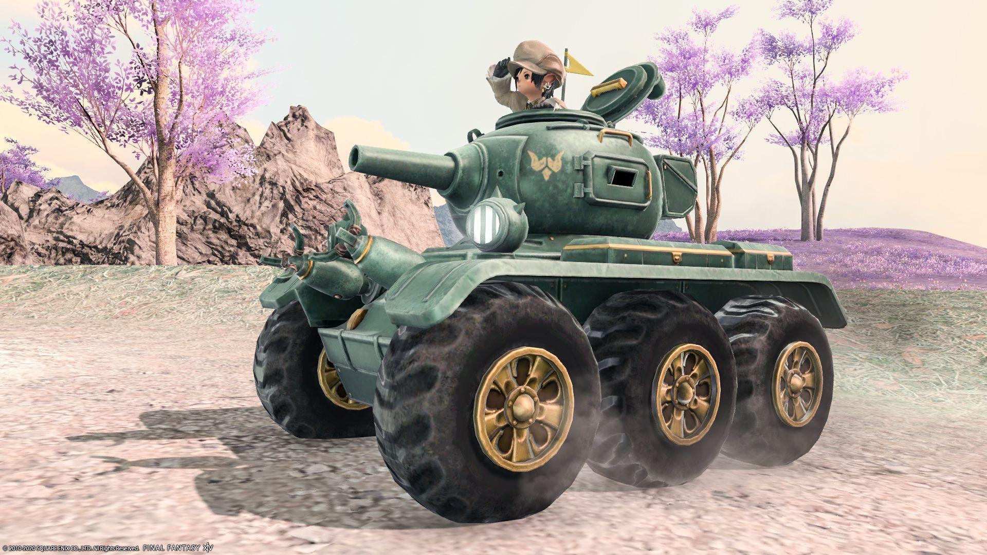 ドワーフ戦車(ララフェル)